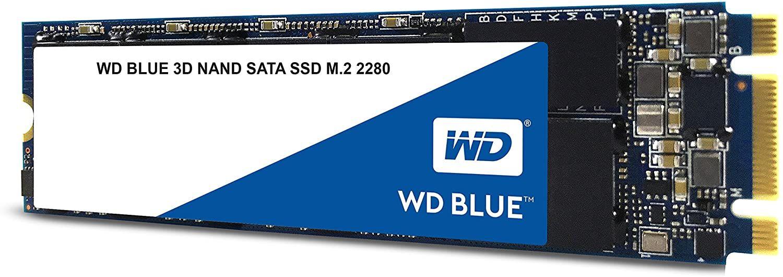 Western Digital WD Blue 1TB interne SSD (3D NAND TLC, SATA III, M.2 2280, 560 MB/s)