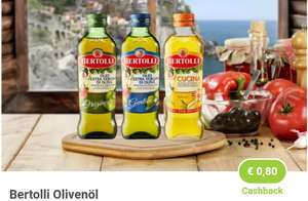 0,80€ Cashback beim Kauf von Bertolli Olivenöl & Eszet Schnitten 0,40€ Cashback [marktguru]