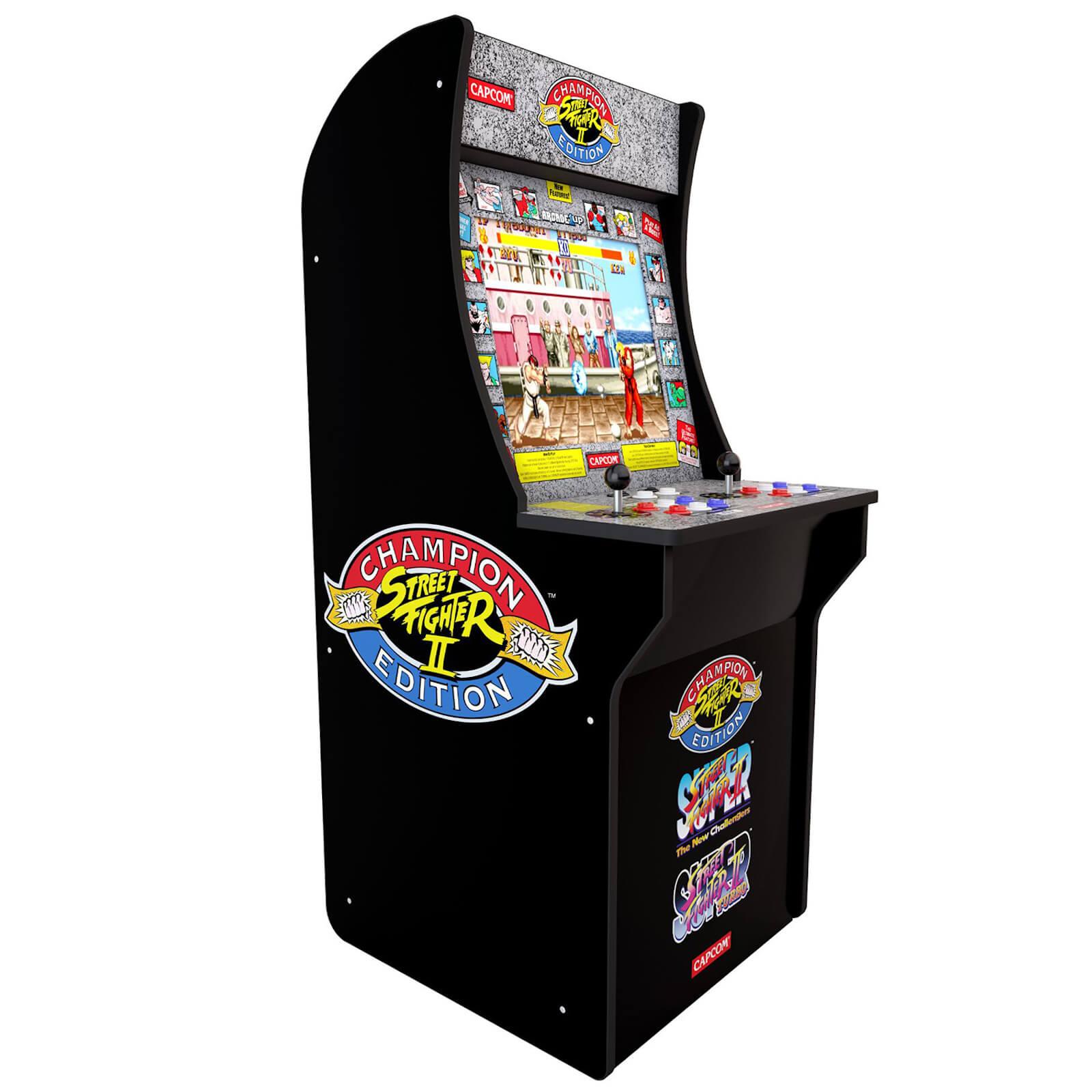 Arcade1Up Street Fighter II Champion Edition - Retro-Spielautomat inkl. Street Fighter 2, Champion & Turbo