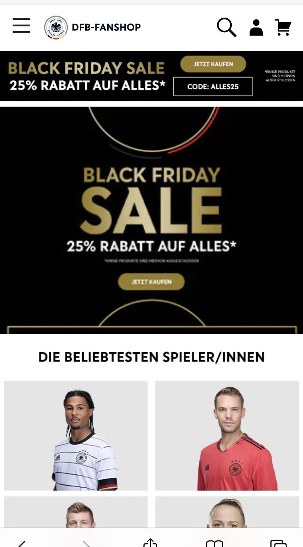 25% auf alles im DFB Fanshop