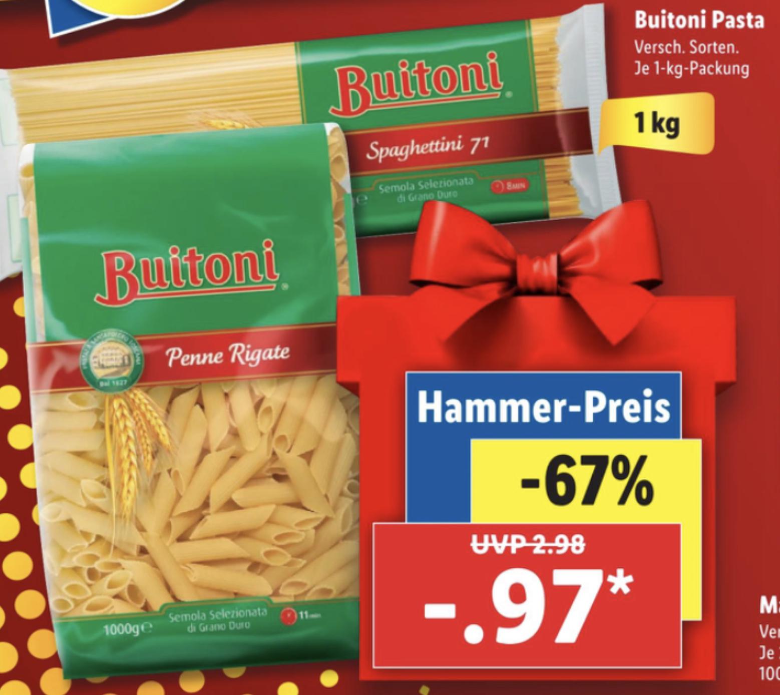 Buitoni Pasta versch. Sorten je 1kg Packung nur 0,97€ / Valensina Saft 1 Liter versch. Sorten für je 0,77€ / Norweg. Lachsfilet kg 11,98€
