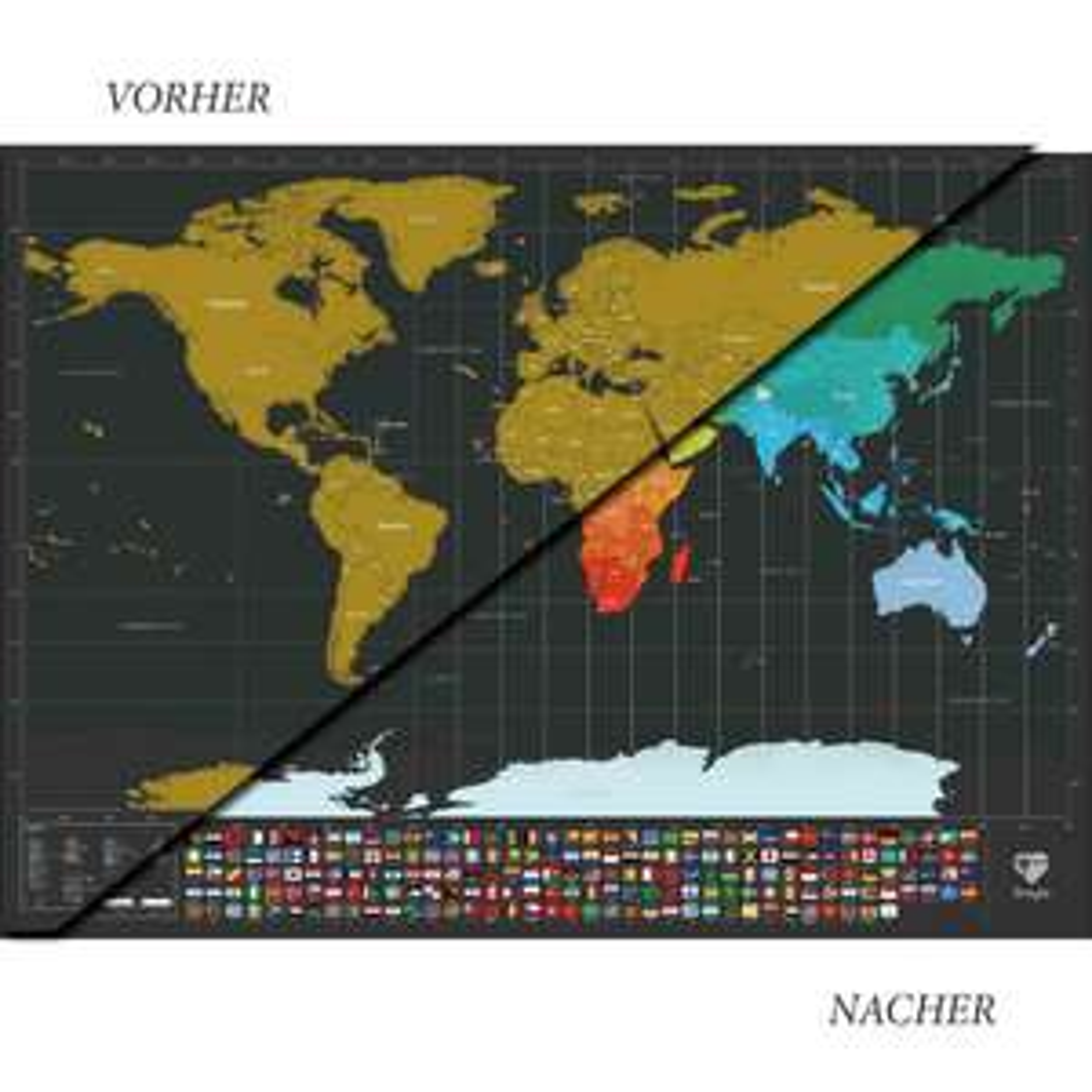 30% auf Rubbel-Weltkarte