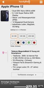 [YOUNG] iPhone 12 mit Magenta Mobil S Young 279,95 ZZ