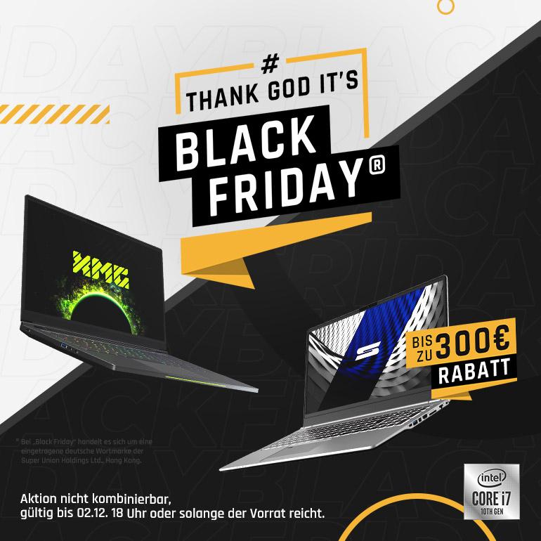 Bestware Laptops (XMG / Schenker) Black Friday mit bis zu 300€ Rabatt