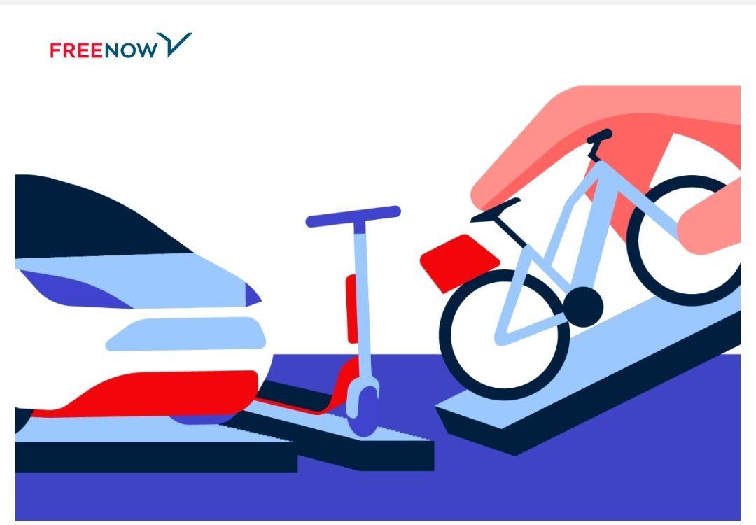 [Lokal Hamburg] FreeNow 2x Freifahrt bis 3€ (E-Roller, E-Bike oder E-Scooter) 50% auf Carsharing bis 5,5€