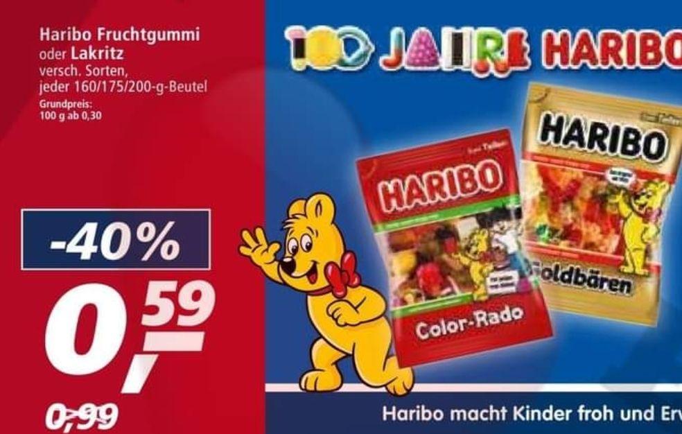 [Real] Haribo Fruchtgummi und Lakritz für 0.59€