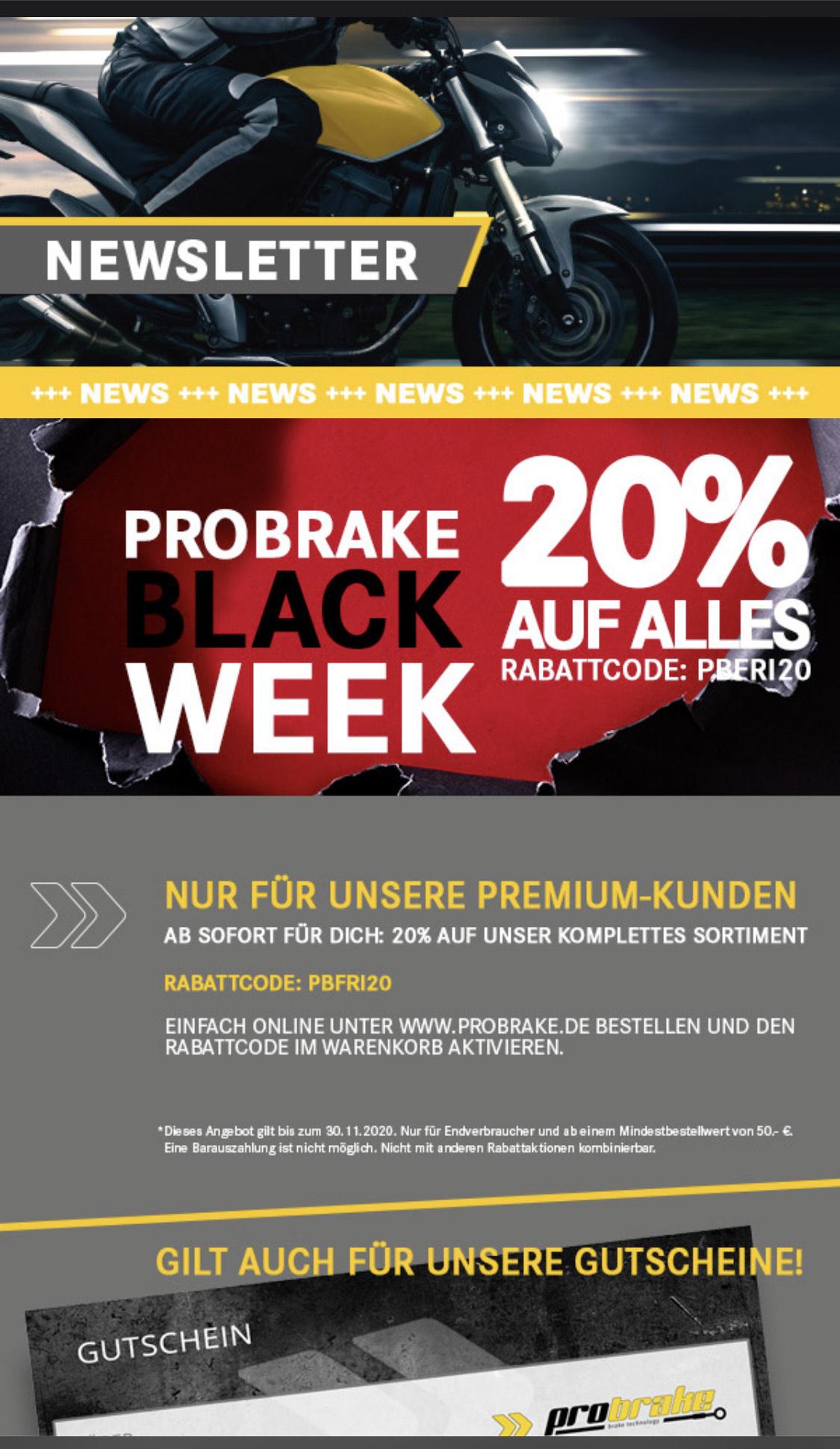 ProBrake Gutschein 20%