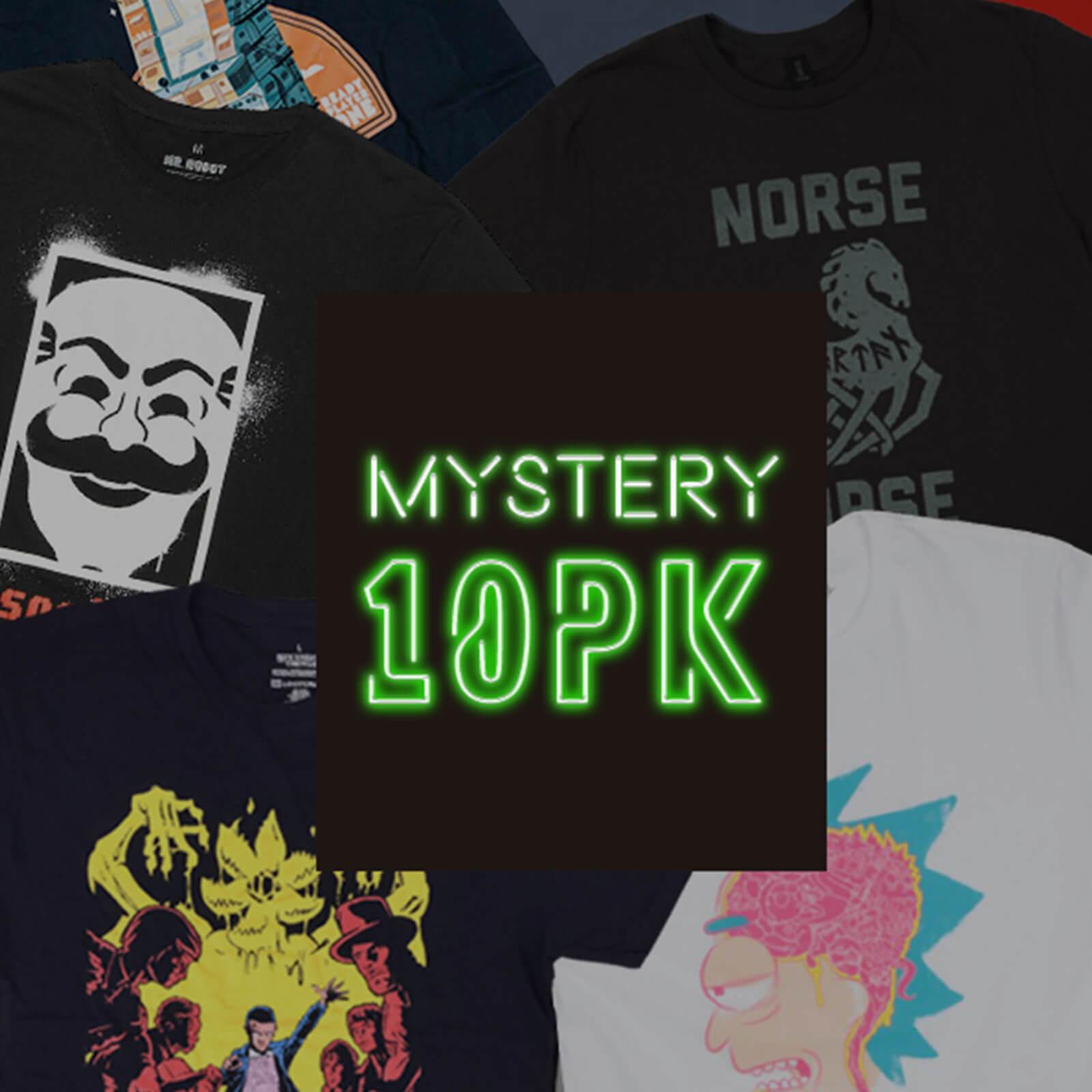 Mystery Geek T-Shirt 10er-Pack - DC, Marvel, Star Wars, Game of Thrones uvm (Damen oder Herren: S - XXL) für 29,99€ (pro Shirt 2,99€)