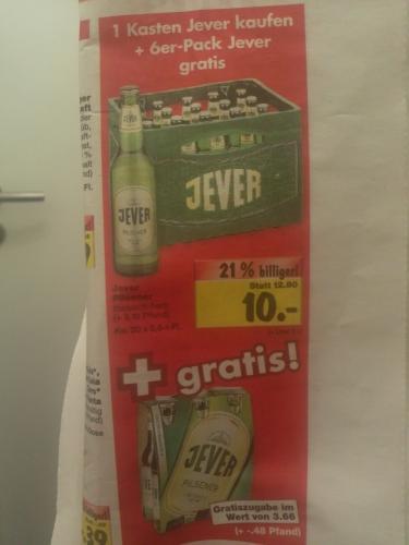[lokal?] Kaufland Schifferstadt: 1 Kasten Jever & 6er-Pack Jever für 10 Euro (KW 07)