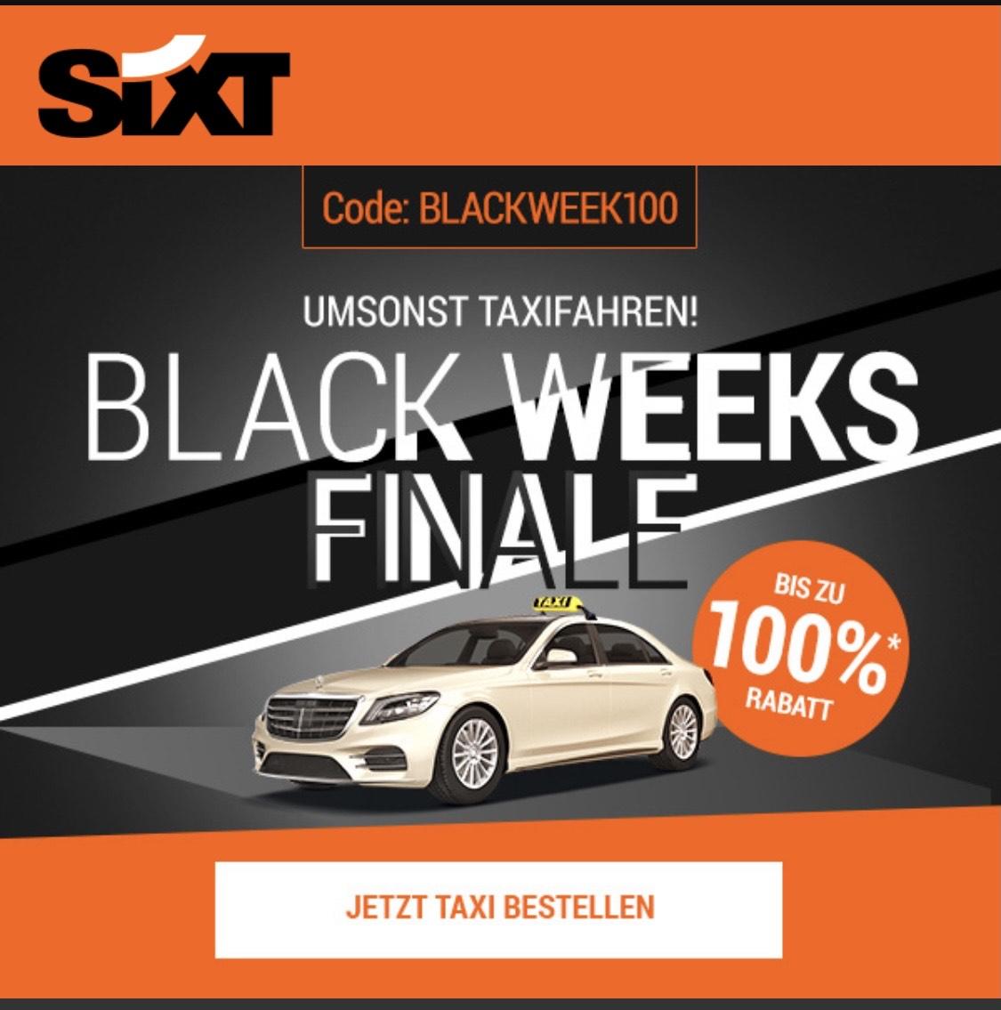 Gratis Taxifahrt bei Sixt Ride! (Bis zu 20€) [Freebie]