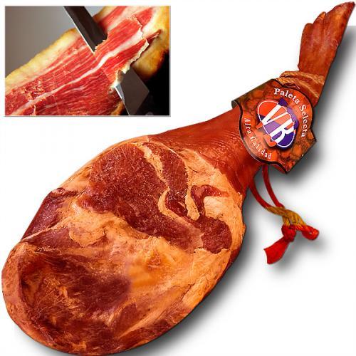 [ebay]  Original spanischer Serrano Schinken Paleta Serrana ganze Keule 4,3 kg