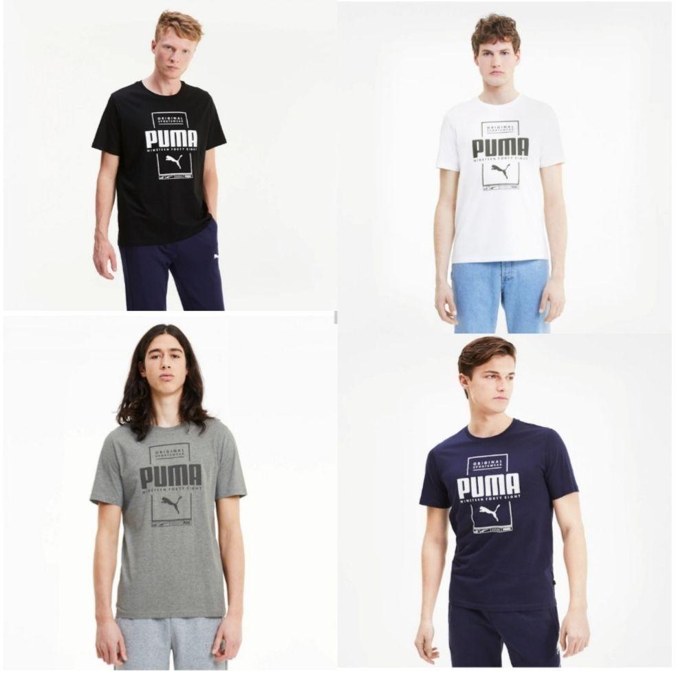 Puma Box Herren T-Shirt für 6,78€ in den Farben Schwarz, Grau, Blau und Weiß