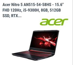 Acer Nitro 5 Gaming-Notebook (AN515-54), Core i5-9300H 8 GB RAM 512 GB SSD-Speicher nVidia GeForce RTX 2060