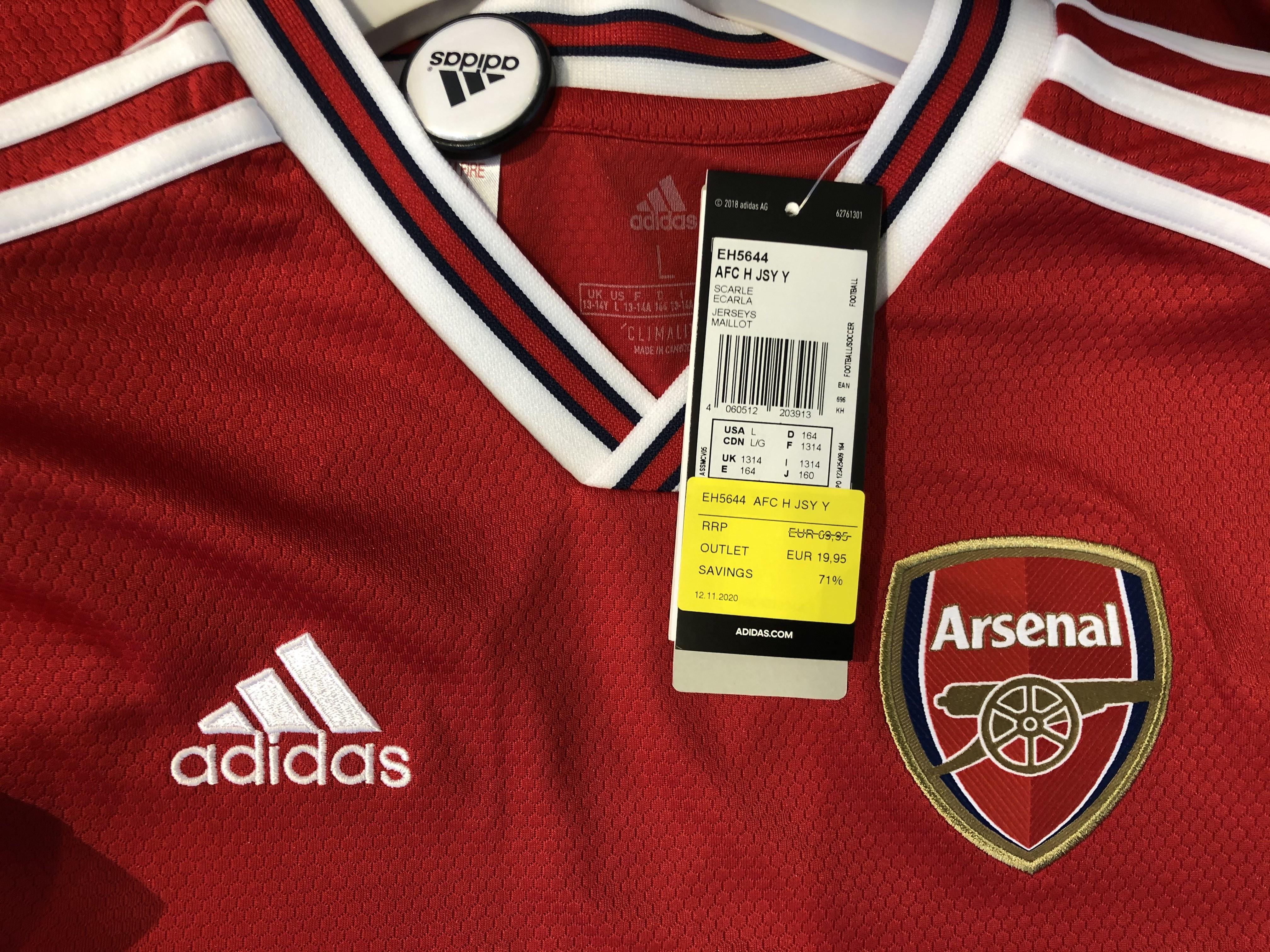 [LOKAL - Designer Outlet Wolfsburg] Trikot Arsenal London 2019/20 Adidas