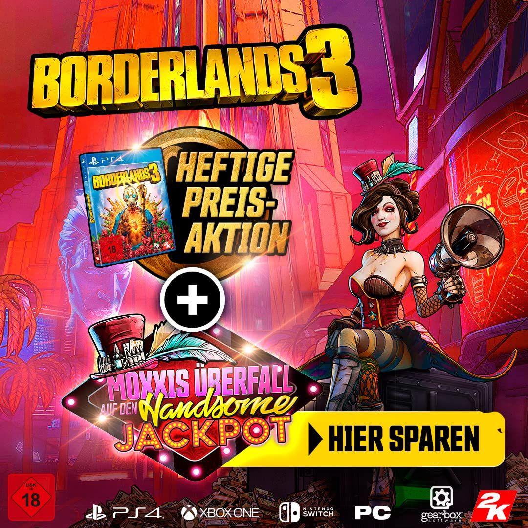 Kaufen Sie Borderlands 3 für Playstation 4 oder Xbox One und erhalten Moxxis Überfall DLC gratis dazu [Amazon]