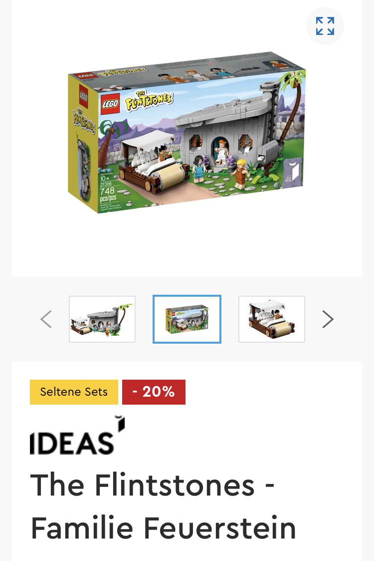 LEGO® Ideas 21316 Sammlerset The Flintstones – Familie Feuerstein