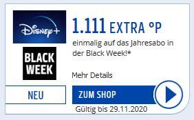 [Payback] Disney+ Jahresabo - 1111 Payback-Punkte (entspricht 11,11€ Cashback) für effektiv 58,88€/Jahr