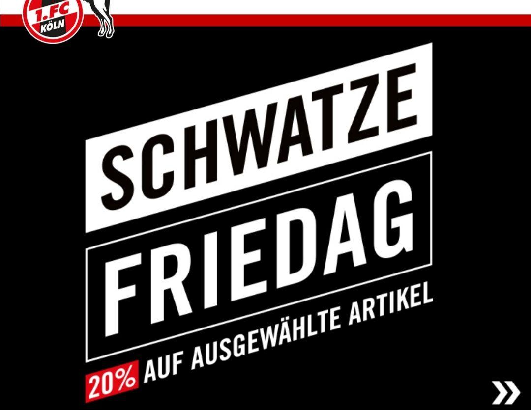 1. FC Köln Fanshop - 20% auf 193 Artikel am Schwatze Friedag, +Mitgliederrabatt