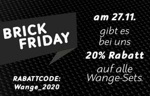 Klemmshop Brick Friday 20% auf alle Klemmbausteine Wange Sets