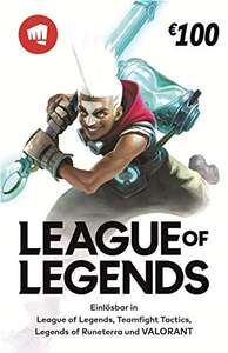 League of Legends €100 Gift Card für 90€ | Riot Points 10% Rabatt