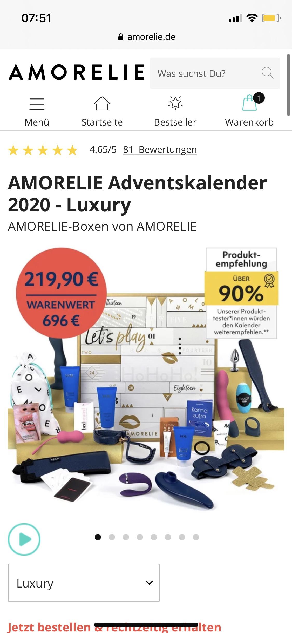 Amorelie Adventskalender luxury für 119,90€