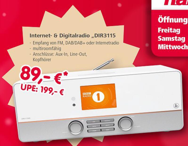 "(Lokal) Hama Digital-Internet-Radio ""DIR3115"" // Hama Schnäppchenmarkt - 86653 Monheim"