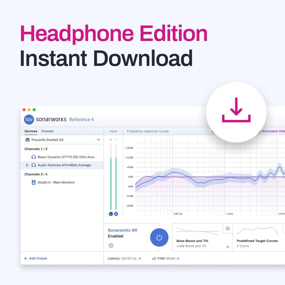 Nischendeal/Homerecording: Sonarworks Reference 4 Headphone Edition (VST Plugin / eigenständige Software) für Lineares Mischen)