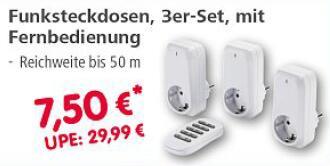 (Lokal) Hama Funksteckdosen 3er-Set mit Fernbedienung // Hama Schnäppchenmarkt - 86653 Monheim