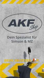 ~AKF Shop~ Moped Friday - 10% auf alles + 5fach Bonus Punkte Simson MZ