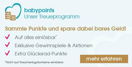 Babymarkt 10% oder 10€ (60€ mbw) zB: Hubbelino Kugelbahn mit Bestpreise möglich