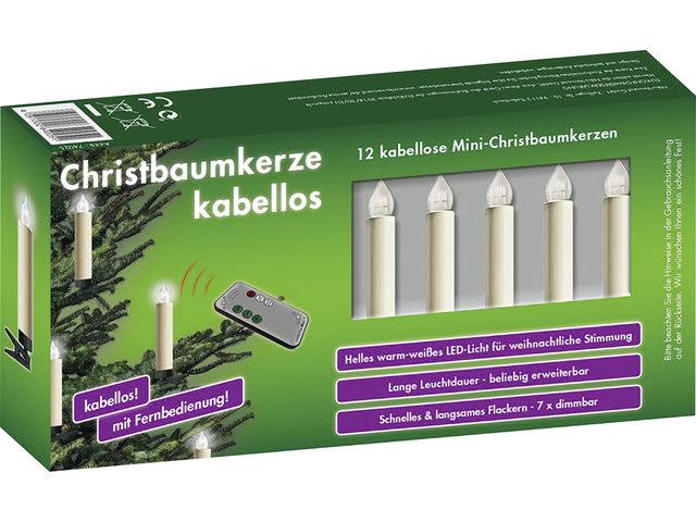 Hela Christbaumkerzen 12 Stück - Weihnachtsbeleuchtung