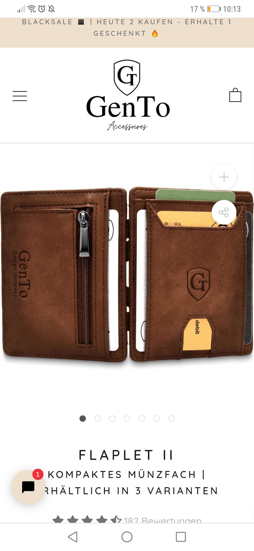 2für1 im Gento Shop / Magic Wallets / Bsp. Flaplet II