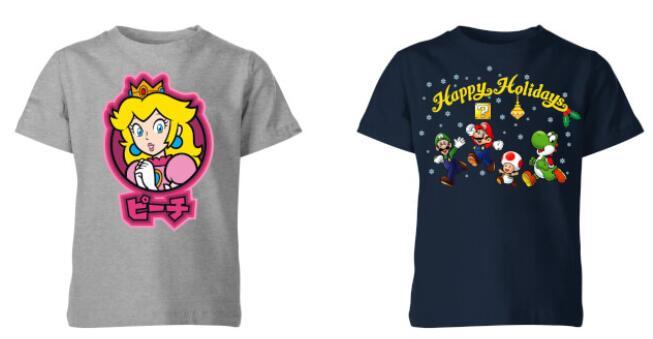 2 Kinder T-Shirts (Super Mario, Zelda, Batman, Harry Potter, Star Wars und mehr) für 12€