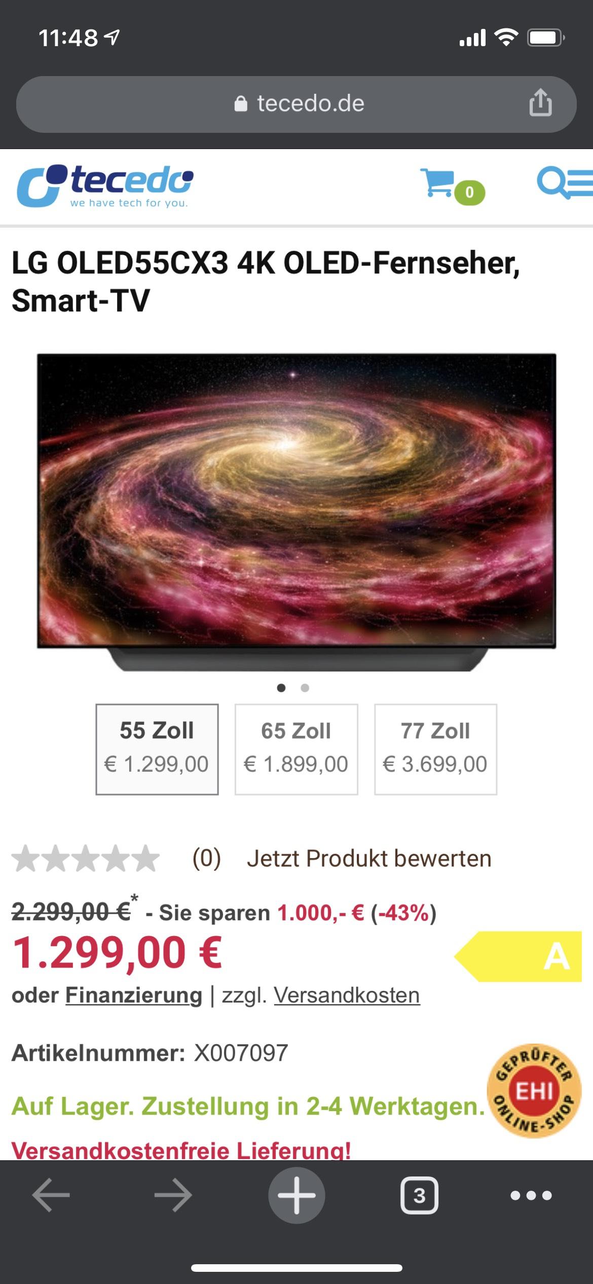 LG OLED 55CX3