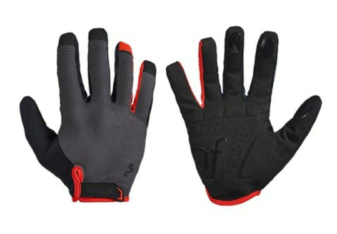 CUBE Natural Fit Handschuhe Langfinger rot/schwarz , MTB, Fahrrad, nur noch XL/XXL