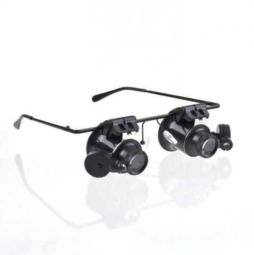 Juwelier/Uhrmacher-Lupenbrille 20-fache Vergrößerung mit LED-Beleuchtung