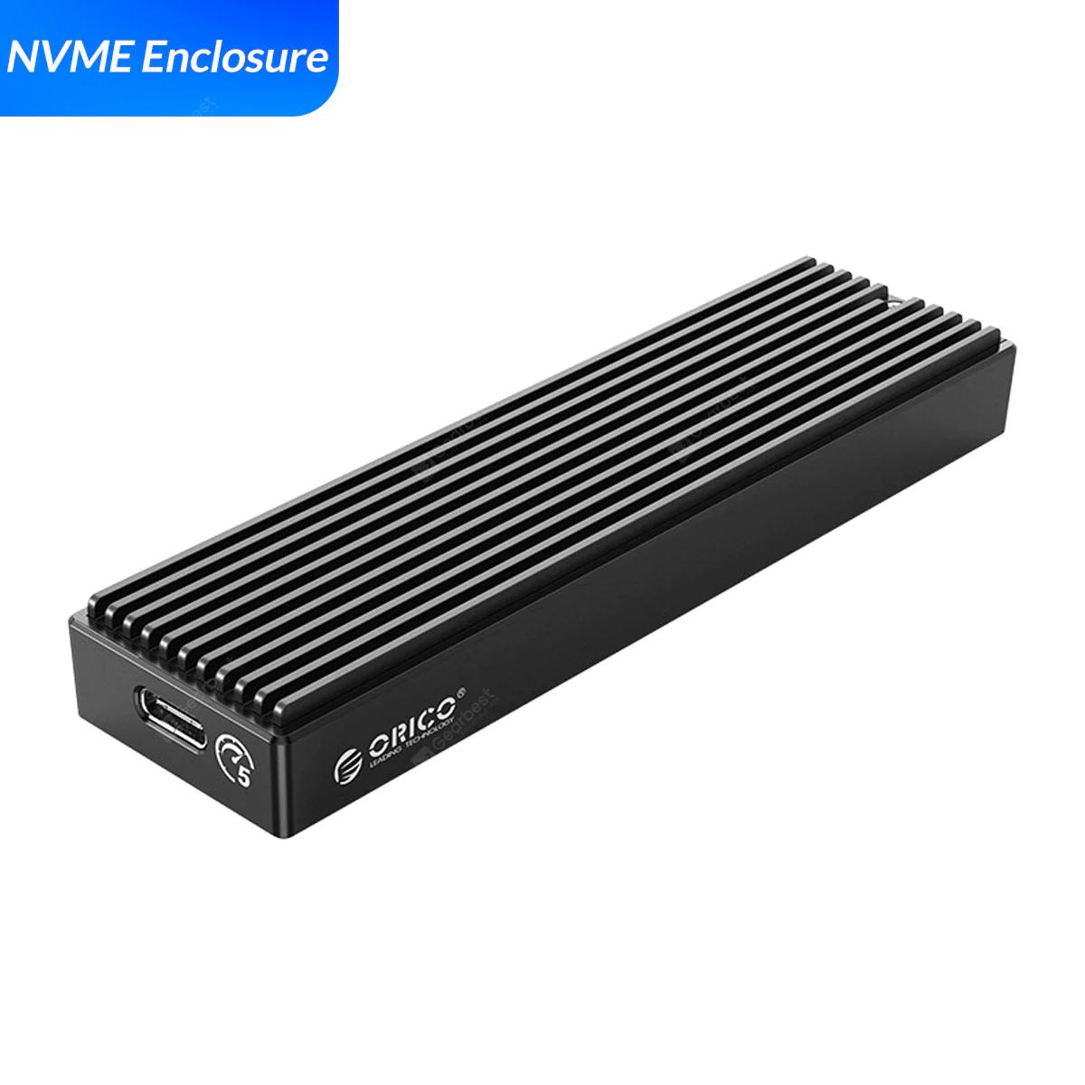 ORICO LSDT M.2 NVME Enclosure USB C Gen2 10Gbps SSD Case für 11,94€