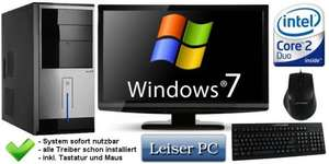 "PC Komplett-System mit Intel Core2Duo, 2GB, 160GB, Windows7 64bit + 19"" TFT für 288,- Euro @eBay"