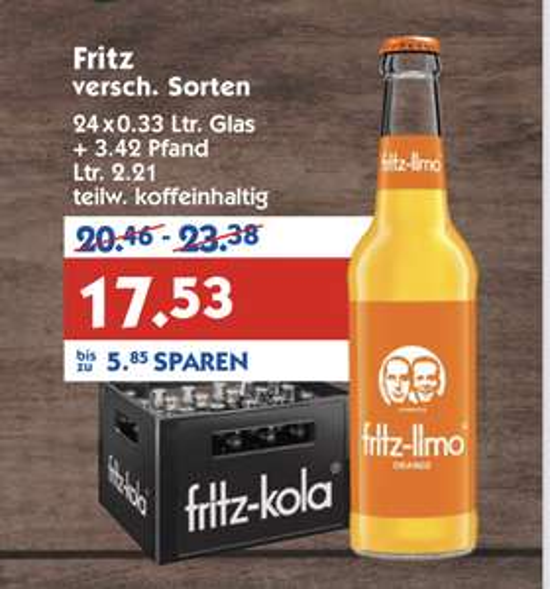 Fritz Kola 24x0,33l bei Hol' ab! [Lokal]