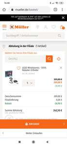 Lego 51515 Roboter(-10 bei Müller)Mindstorms 235,32 Amazon!
