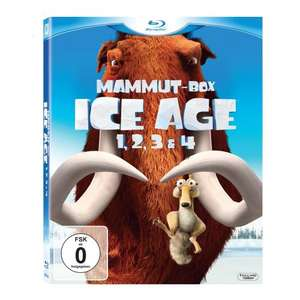 [BLU-RAY] Ice Age - Teil 1-4 Mammut-Box @ Amazon.de für 25,97 EUR