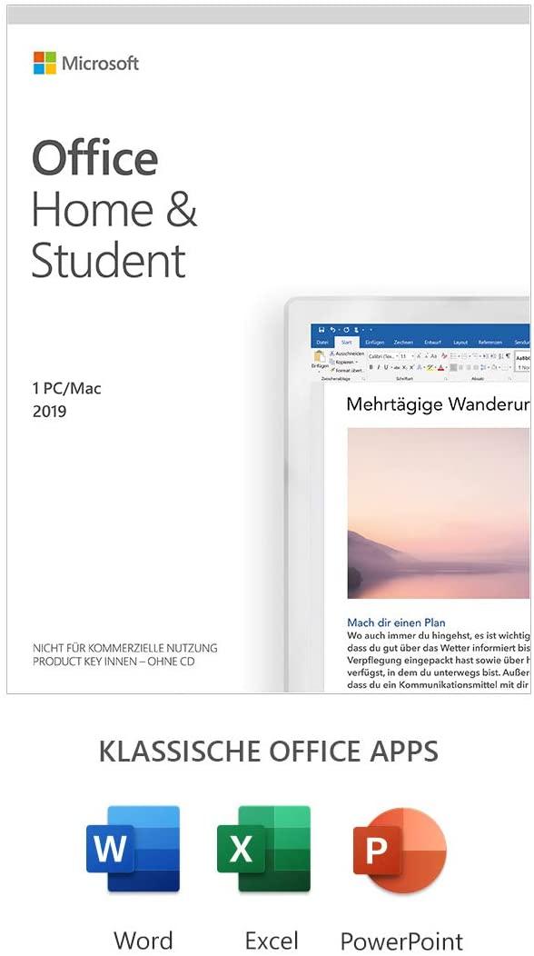 Microsoft Office 2019 Home & Student multilingual | 1 PC (Windows 10) / Mac, Dauerlizenz Amazon Prime, Media Markt