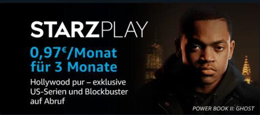 [Prime Video] Starzplay 3 Monate für 0,97€ pro Monat