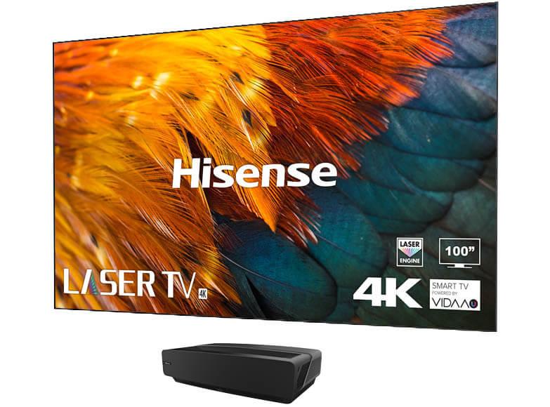 Hisense 100L5F-A12 4K Laser-TV HDR - Soft Panel ALR-Screen