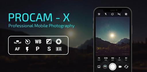 """""""ProCam X"""" Premium-Kamera-App für Android kostenlos"""