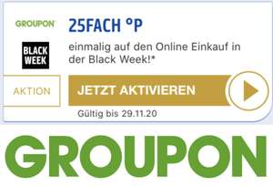 25-fache Payback Punkte bei Groupon - bis 29.11.
