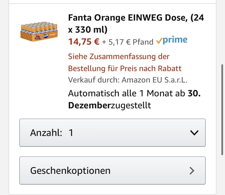 Fanta 24x330 ML für 12,54
