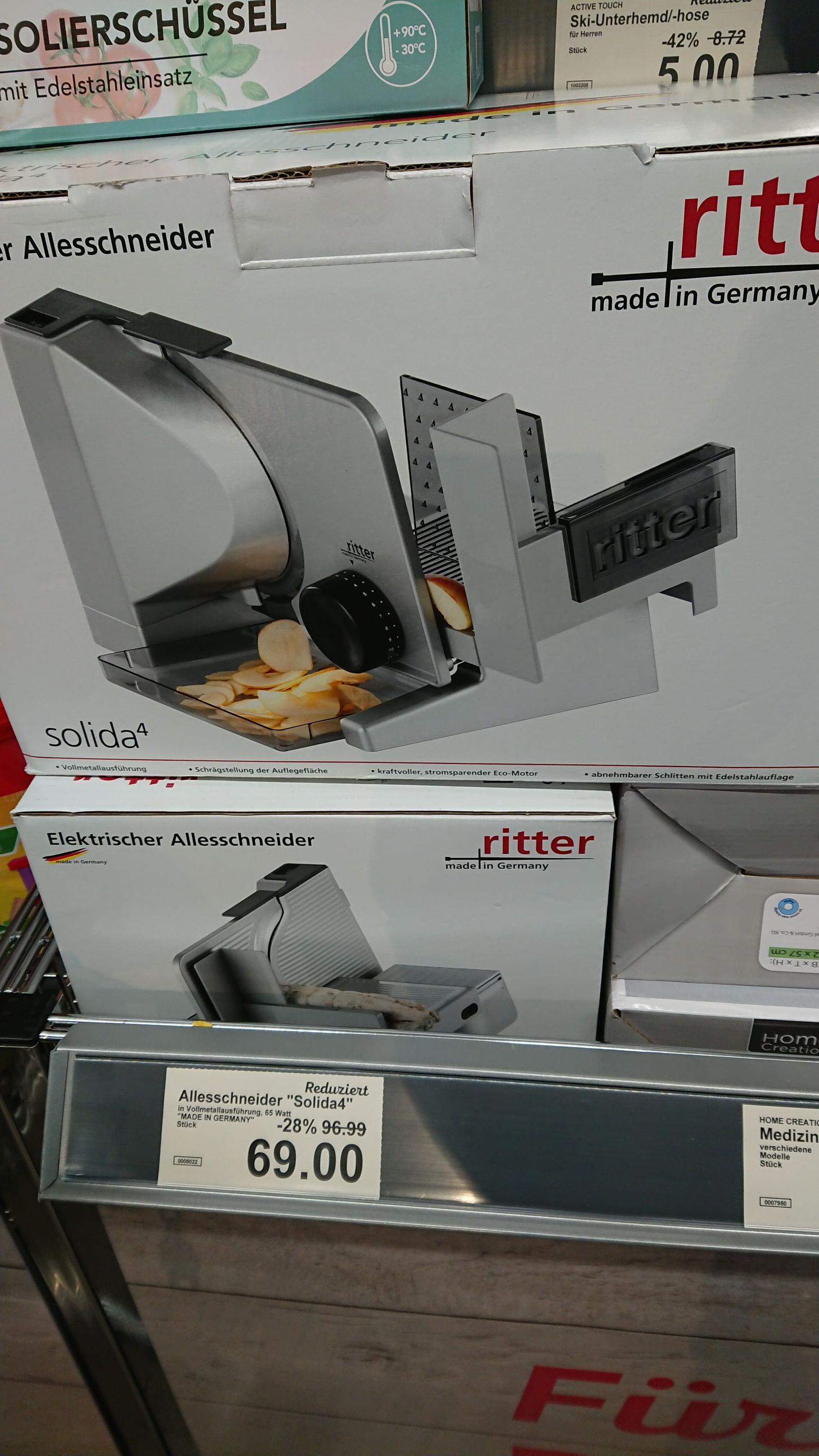 Allesschneider Ritter Solida 4 zum Bestpreis bei [Aldi Nord] in Oldenburg (und anderswo?)