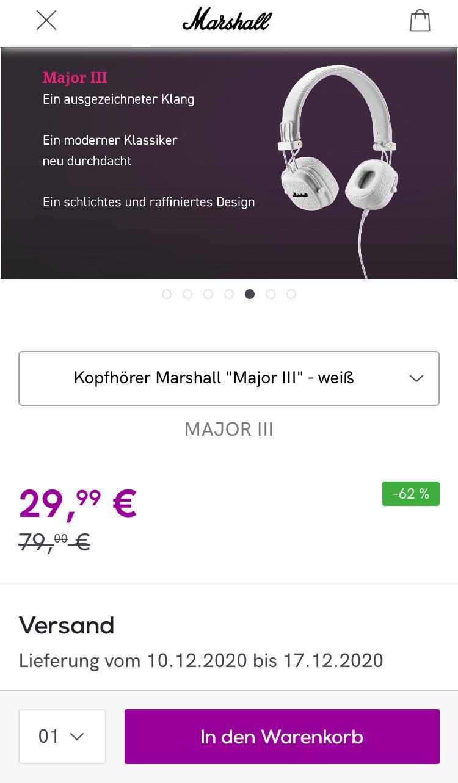 Marshall Major III Kopfhörer und Major II In-Ear-Headset mit Bluetooth