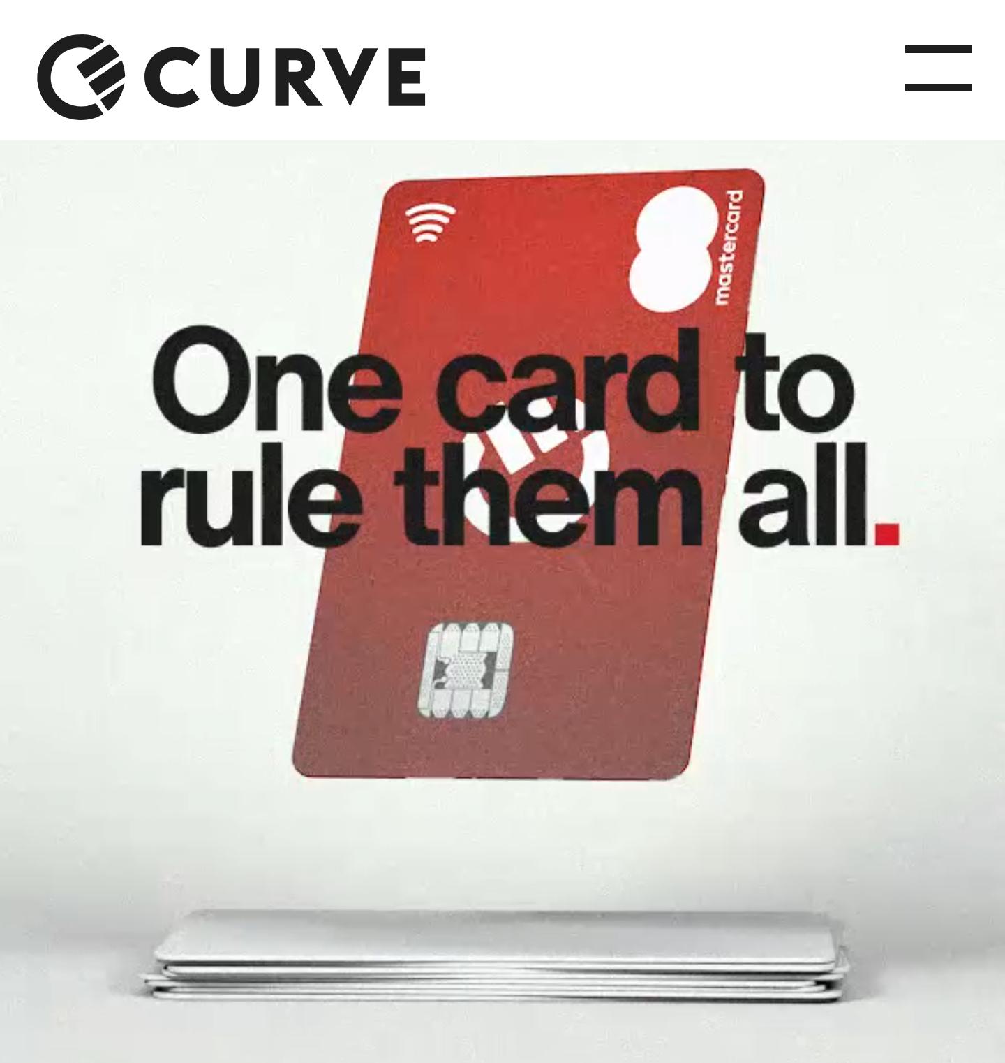 Kostenlose Curve Mastercard - 1% Cashback erneuern + 5£ bei Abschluss mit KWK